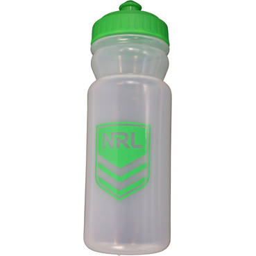 NRL Water Bottle - available in clear or purple