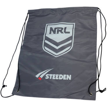 NRL Drawstring Bag - available in grey and black